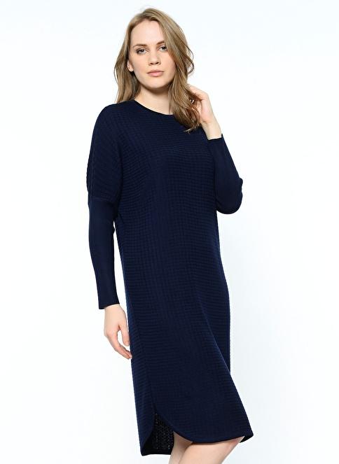 Butik Triko Tunik Elbise Lacivert